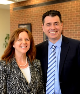 Prof. Leila Sadat and Prof. Mark Drumbl, director of the Transnational Law Institute
